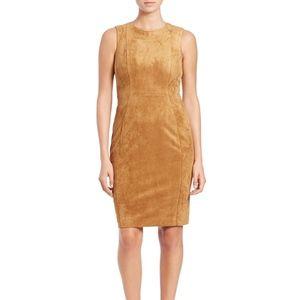 Calvin Klein Faux Suede Sheath Dress
